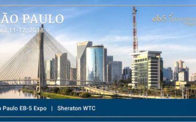 EB5Investors 2018 São Paulo EB-5 Expo – April 11 & 12, 2018